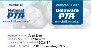 pta membership card template - membership card activation delaware pta