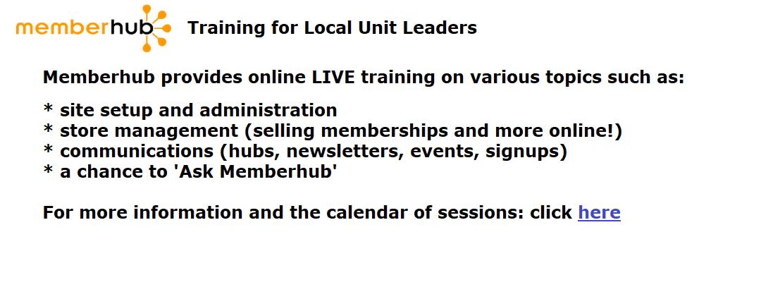 MemberHub Training